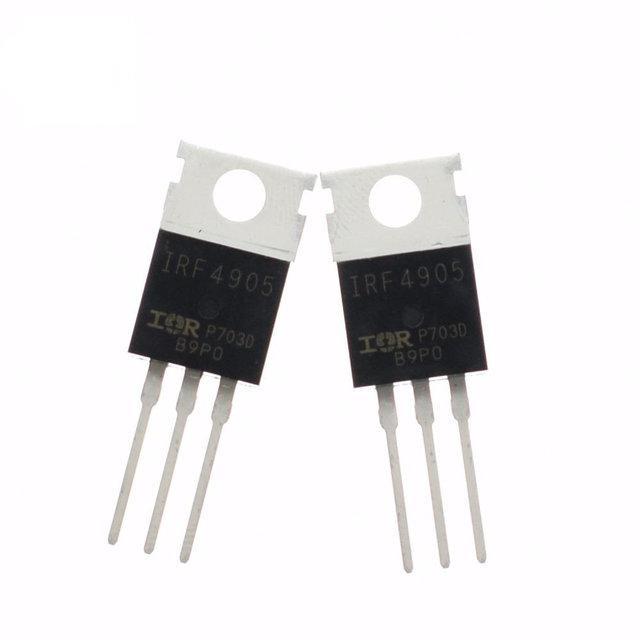 Транзистор IRF4905, P-канал 55В 74А