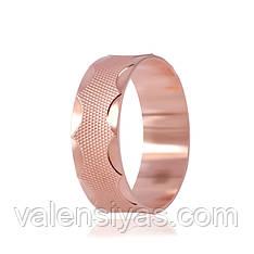 Обручальное кольцо серебряное с позолотой К3/815