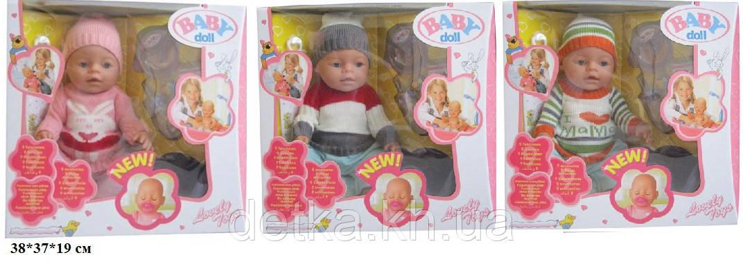 Лялька-пупс 8001-K/L/Q інтер-ний з аксес.можна купати закриті очі