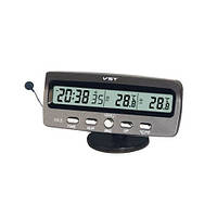 Автомобильные часы  авточасы VST 7045. Будильник, календарь, секундометр, таймер.
