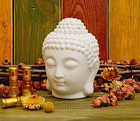 "Аромалампа ""Голова Будды"" белая (9х10х14 см)"
