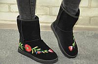 Угги UGG с нашивкками цветами, фото 1