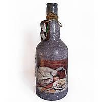 Графин для водки  Подарок мужчине на день рождения юбилей Декор бутылки для крепких напитков