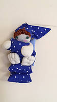 """Іграшка сувенірна ручної роботи """"Ангел Сплюха"""" з натуральної тканини"""