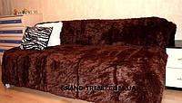 Ворсистое покрывало на кровать полуторного размера коричневый цвет