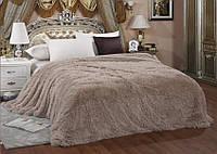 Ворсистое покрывало на кровать полуторного размера East Comfort капучино
