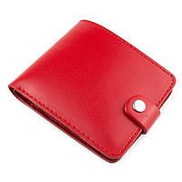 Кожаное портмоне П1-07 (красный)