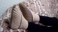 Женские вязаные носки-тапочки, ручная работа, в наличии.
