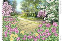 """Схема для вышивки бисером     """"Розы у дороги""""     размер: 42*30 см"""