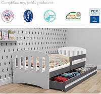 Детская кровать,детская мебель 160/80 + выдвижной шкаф+МАТРАС!