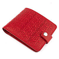 Кожаное портмоне П1-07-02 (красное)