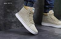 Зимние мужские кроссовки кеды Vans Old Skool замша,подошва резина,искусств.мех размеры:41-46 бежевые