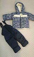 Зимний полукомбинезон и куртка для мальчиков с принтом самолетиков, детские зимние костюмы оптом