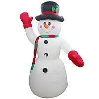 Новогодняя фигура Снеговик надувной, светящийся 180 см