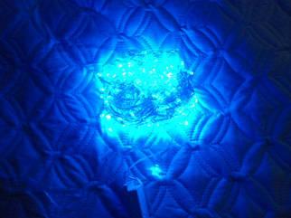 Гирлянда LED светодиодная на 400 лампочек синяя 16 м