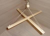 Первая игрушка малыша - Мобиль Мельница (основа крестовина), фото 1