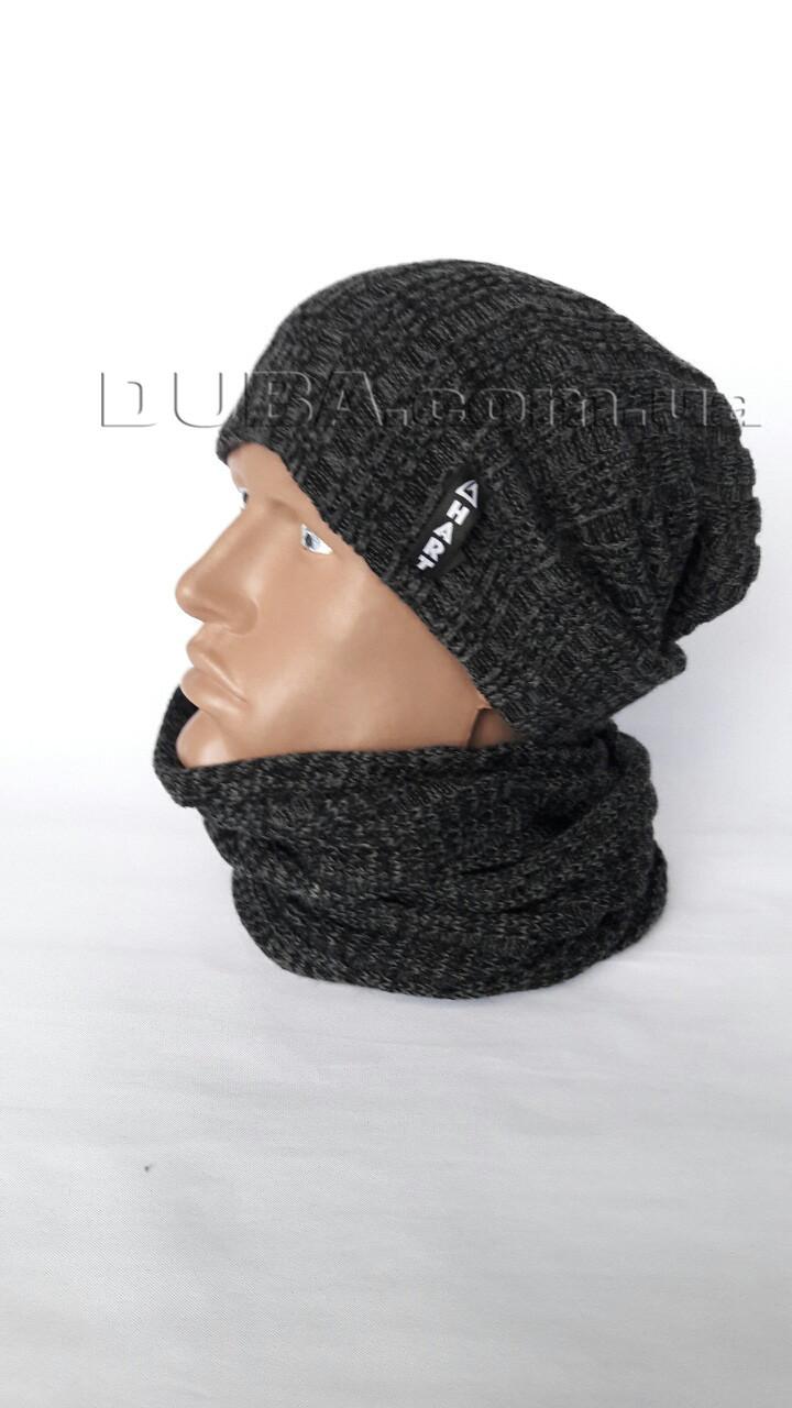 Мужская шапка и хомут Код шмж125