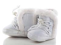 Детские зимние пинетки от фирмы Clibee-2 Y134 White (48/4 пар, 17-20)
