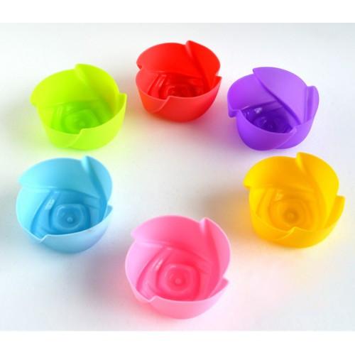 Набор силиконовых форм для выпечки и желе  Розочка 6 шт.,7х3 см