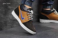 Зимние  кроссовки Nike найк  Натуральная кожа, замша ,внутри мех, размеры:40-45 Украина(Харьков)