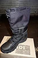 Ботинки зимние с высоким защитным заправляющимся голенищем на теплом меху Черные