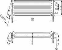Радиатор охлаждения Renault/Dacia Duster 10-, Logan 05- (1.5DCI) Profit