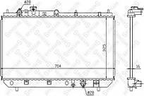 Радиатор охлаждения Mazda 323 98-04 Profit
