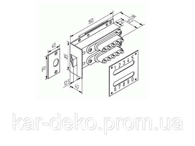 фото  кодовый замок на дверь схема kar-deko.com