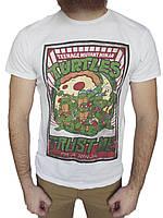 Футболка Turtles р-р М (сток б/у) мужская белая