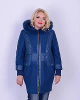 Женское пальто-куртка с вареной шерстью и плащевкой