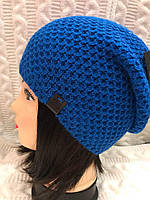 Женская вязаная шапка 2017-5
