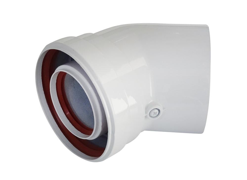 Соединительное колено 45° Ф 60/100 A010 (папа-мама-папа-мама) для газового котла