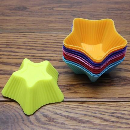 Набор силиконовых форм для выпечки и желе Звездочка 6 шт.,6х6х3 см