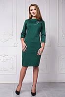 Трикотажное платье приталенного силуэта 118-5