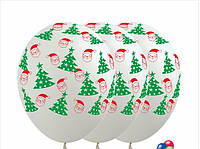 "12"" (30 см) Елка+Дед Мороз пастель белый 1 шт. Sempertex Колумбия"