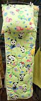 Детское стеганное одеяло с подушкой (силикон) цвета в ассортименте. Украина. 110х140см
