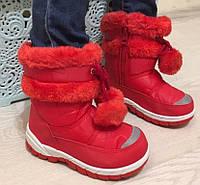 Детские зимние сапожки  на девочку 24- 26 размеры