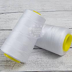 Нитки швейные 40/2, 4000 ярдов, белого цвета