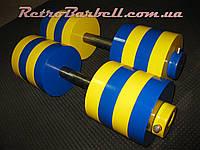 Гантели 2х20 кг стальные наборные разборные новые заводские