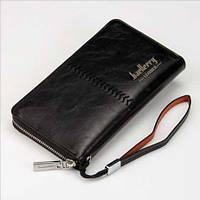 Клатч портмоне Baellerry Leather, Черный, фото 1