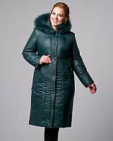 Женское плащевое пальто, большие размеры