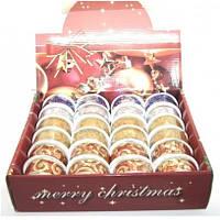 Лента подарочная Merry Christmas 3,5 смнейлоновая 5 цветов ,длина 2,7 м.*