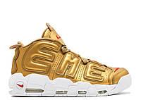 Кроссовки Nike Air More Uptempo x Supreme Gold