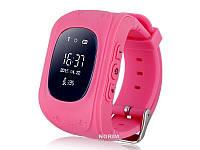 Детские часы телефон с GPS маячком tracking Розовые