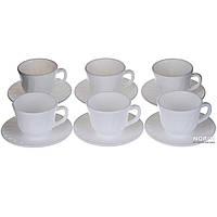 Чайный набор на 6 персон белый (1860)