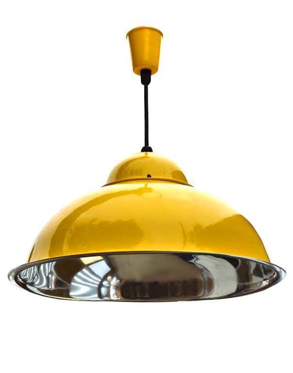 Лампа подвесная промышленного и бытового назначения - подвес желтый глянец