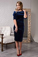 Эффектное нарядное велюровое платье 120-1