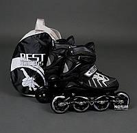 Роликовые коньки, размер 39-42 L Серый (9015)