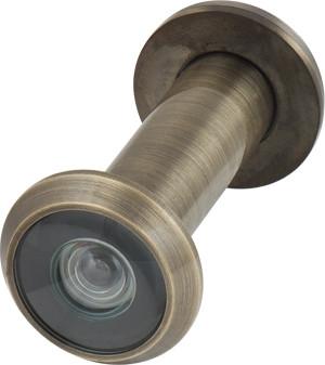 Вічко дверне DVZ2, 16/200/60x100 (оптика пластик, кут огляду 200) AB Бронза
