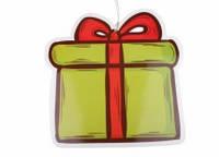 "Новогодний декор ""Подарок"" 40*40 см (пластик, глянцевая бумага)"